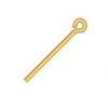 "Eye Pins .75in/19mm 020 Gauge Gold (Old 5/8"")"